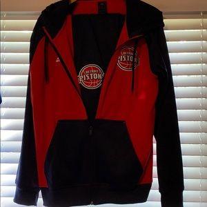 Adidas Detroit Pistons blue&red fleece jumpsuit